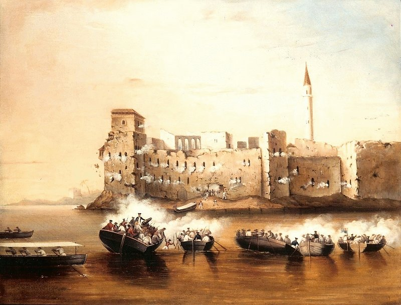 Tortosa, 23rd September 1840, attack by the boats of H.M.S. Benbow, Carysfort and Zebra, under Captain J.F. Ross, R.N.