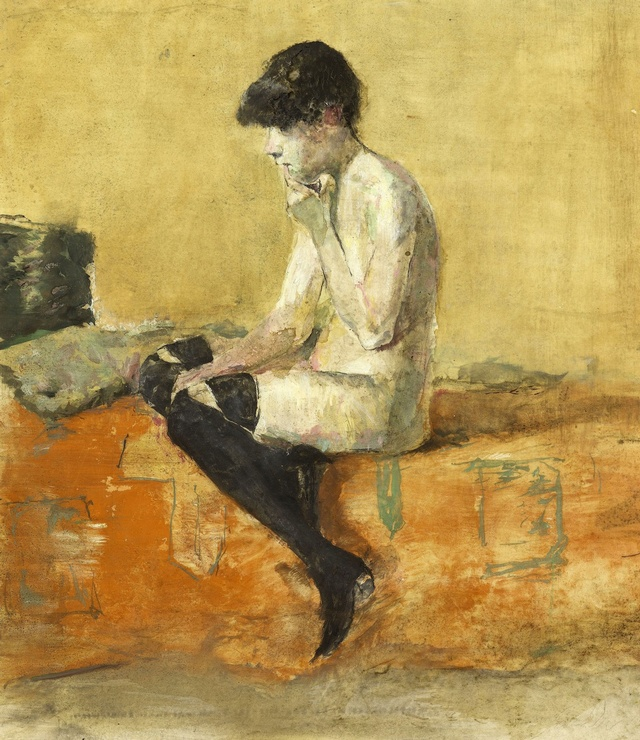 Hommage a Toulouse Lautrec : A Girl on a bed